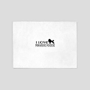 I Love Miniature Poodle 5'x7'Area Rug