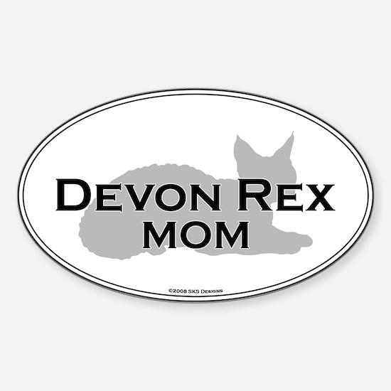 Devon Rex Mom Oval Decal