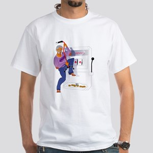 Gambling Casino Grandpa White T-Shirt