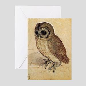 Albrecht Durer The Little Owl Greeting Cards