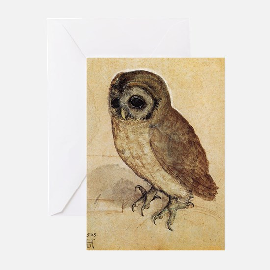 Albrecht Durer The Little Owl Greeting Cards