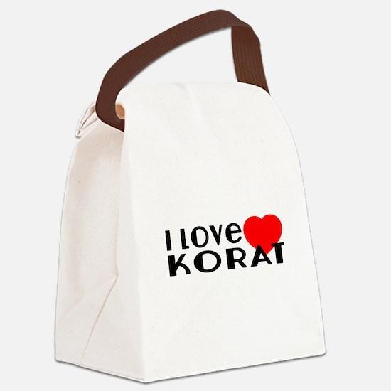 I Love Korat Canvas Lunch Bag