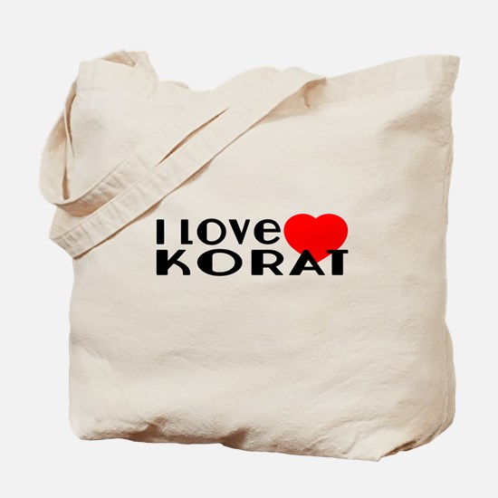 I Love Korat Tote Bag