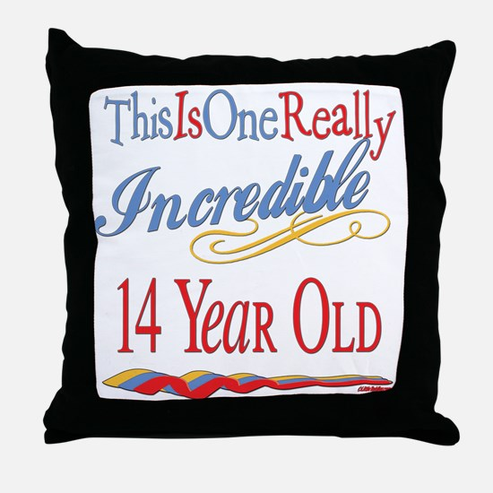 Incredible At 14 Throw Pillow