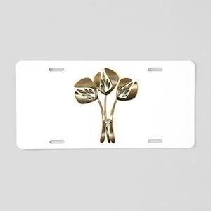 Gold Tulip Hero Aluminum License Plate