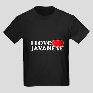 I Love Javanese Kids Dark T-Shirt