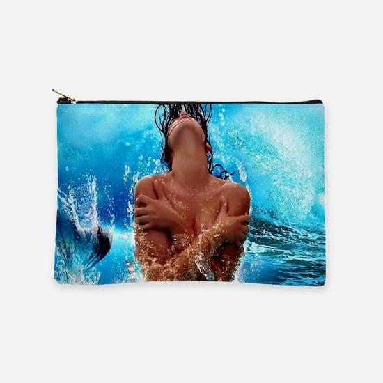 Sexy Mermaid In Water Makeup Bag
