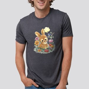 Cute Easter Bunny with Flowers and Eggs T-Shirt