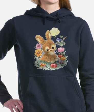 Cute Easter Bunny with Flowers and Eggs Sweatshirt