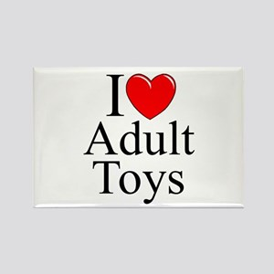 """I Love (Heart) Adult Toys"" Rectangle Magnet"