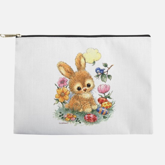 Cute Easter Bunny With Flowers And Eggs Makeup Bag
