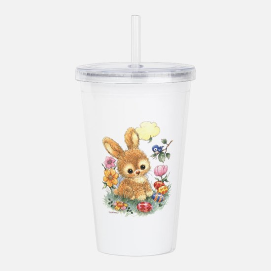 Cute Easter Bunny With Acrylic Double-Wall Tumbler