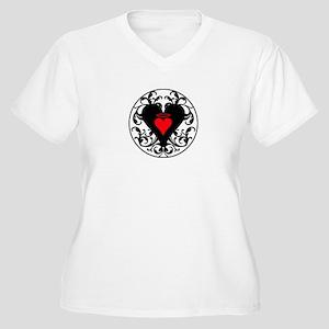 My Angel Heart Women's Plus Size V-Neck T-Shirt