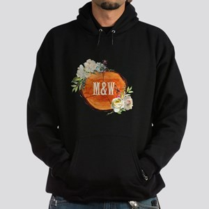Carved Initials Wood Monogram Sweatshirt