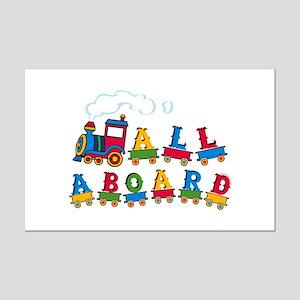 All Aboard Mini Poster Print