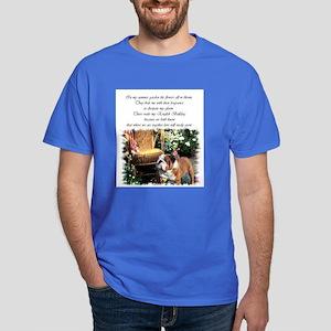 English Bulldog Art Dark T-Shirt