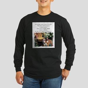 English Bulldog Art Long Sleeve Dark T-Shirt