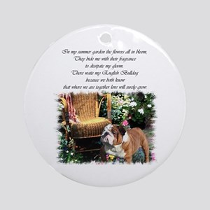 English Bulldog Art Ornament (Round)