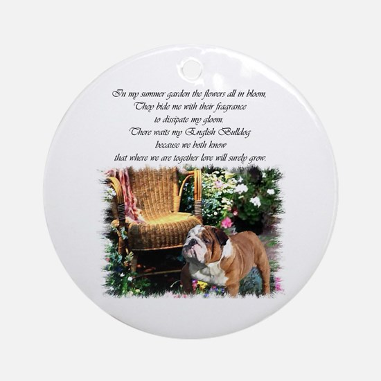 English Bulldog Art Ornament (Round)