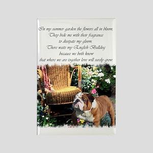 English Bulldog Art Rectangle Magnet (10 pack)