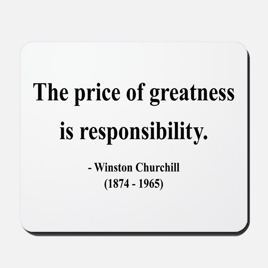 Winston Churchill 18 Mousepad