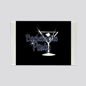 Blue Martini Bachelorette Par Rectangle Magnet