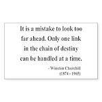 Winston Churchill 19 Rectangle Sticker