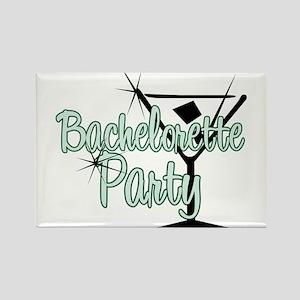 Green Martini Bachelorette Party Rectangle Magnet