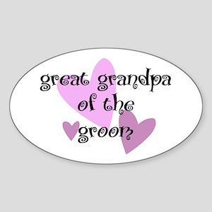 Great Grandpa of the Groom Oval Sticker
