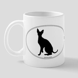 Cornish Rex Silhouette Mug