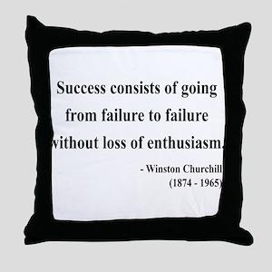 Winston Churchill 21 Throw Pillow