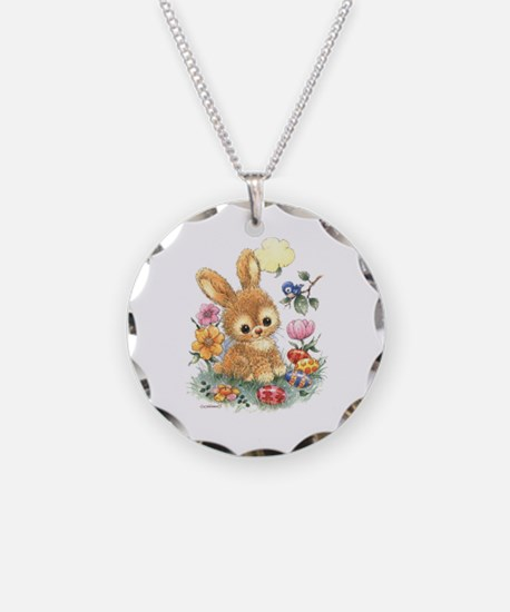 Cute Easter Bunny With Necklace