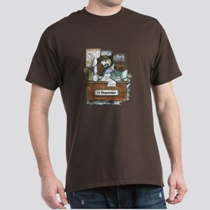 School Bus Dispatcher Male Dark T-Shirt