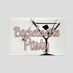 Red Martini Bachelorette Part Rectangle Magnet