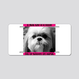 Heavenly Shih Tzu Aluminum License Plate
