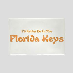 I'd Rather Be...Florida Keys Rectangle Magnet
