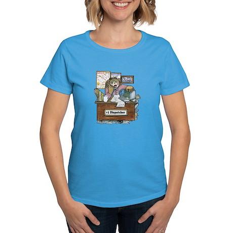 School Bus Dispatcher Female Women's Dark T-Shirt