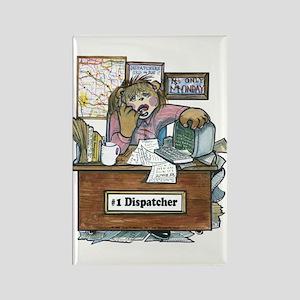 School Bus Dispatcher Female Rectangle Magnet