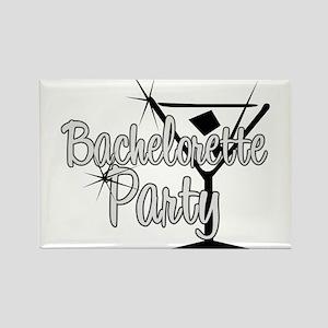 Black & White Martini Bachelo Rectangle Magnet