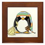 Bedtime Penguin Framed Tile