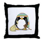 Bedtime Penguin Throw Pillow