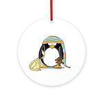 Bedtime Penguin Ornament (Round)