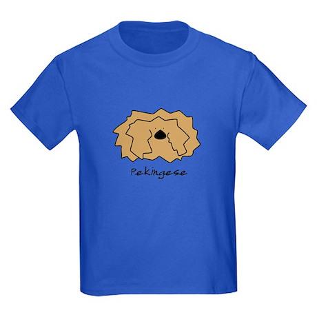 Cartoon Pekingese Kids Dark T-Shirt