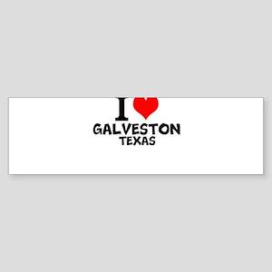 I Love Galveston, Texas Bumper Sticker