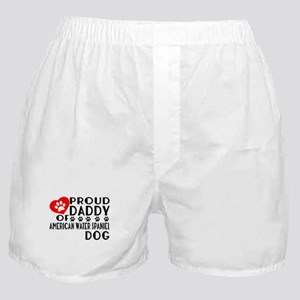 Proud Daddy Of American Water Spaniel Boxer Shorts