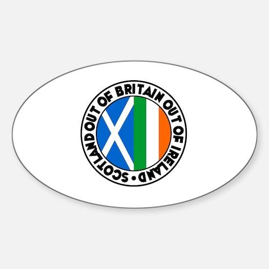 Cute Belfast uk Sticker (Oval)