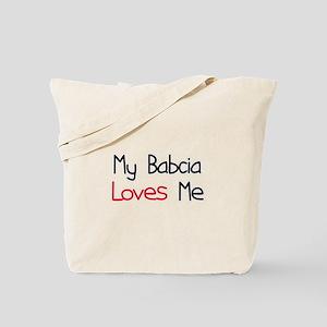 My Babcia Loves Me Tote Bag