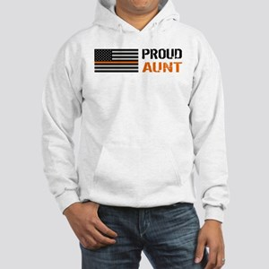 U.S. Flag Orange Line: Proud Aun Hooded Sweatshirt