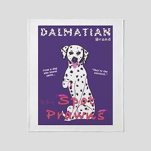 Dalmatian Spot Prawns Throw Blanket