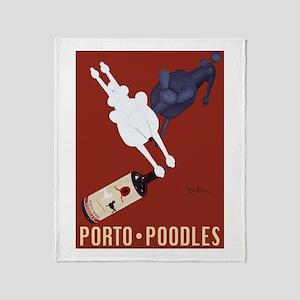 Porto Poodles Throw Blanket